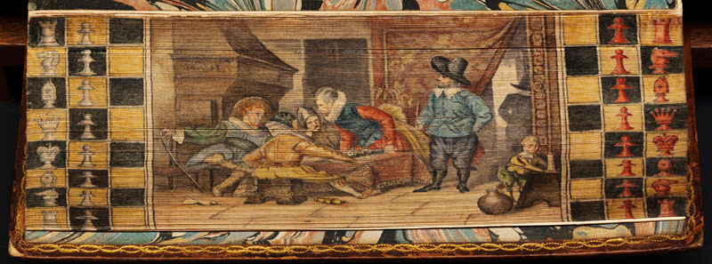 a-game-of-chess-fore-edge-book-painting