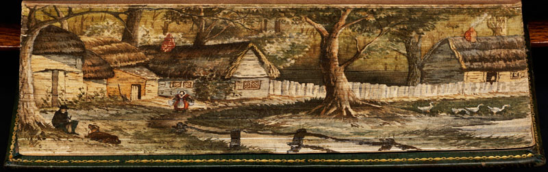 a-view-of-olney-fore-edge-book-painting