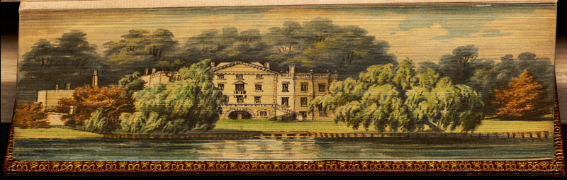 alexander pope residence fore edge book painting 40 Hidden Artworks Painted on the Edges of Books