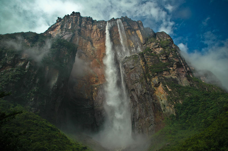 angel falls from below Picture of the Day: The Tallest Waterfall in the World