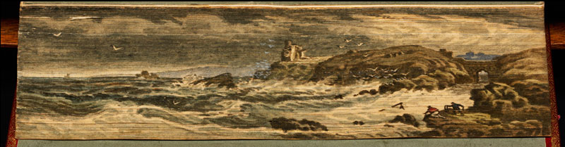 carrick castle fore edge book painting 40 Hidden Artworks Painted on the Edges of Books