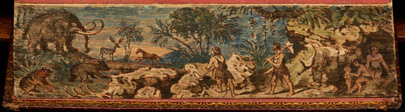 cave dwellers fore edge book painting 40 Hidden Artworks Painted on the Edges of Books