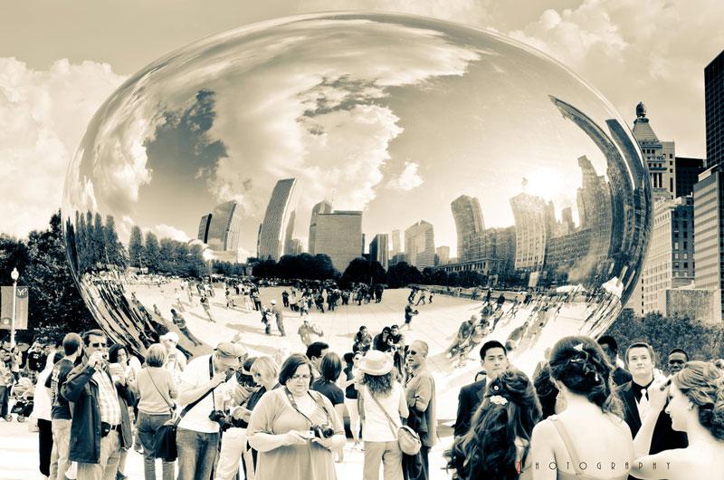 cloud gate anish kapoor chicago bean sculpture (3)