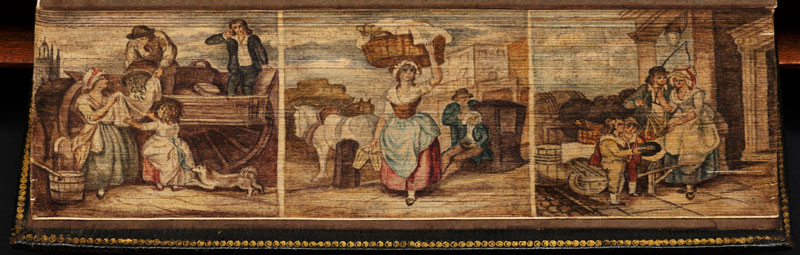 cries of london fore edge book painting 40 Hidden Artworks Painted on the Edges of Books