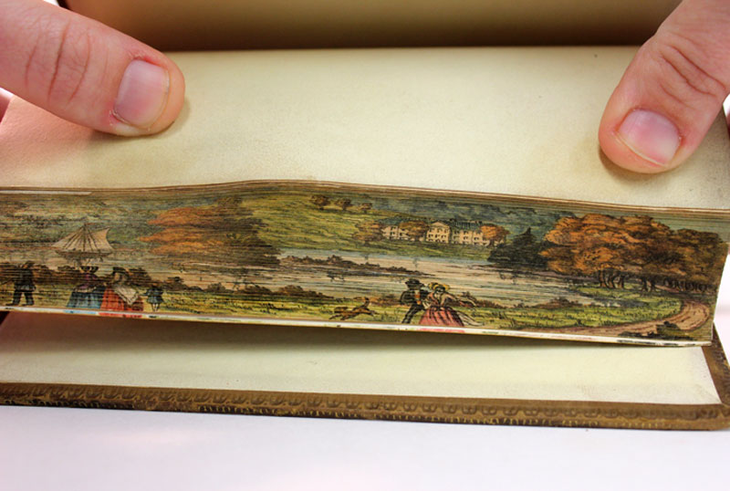 fore-edge paintings on books