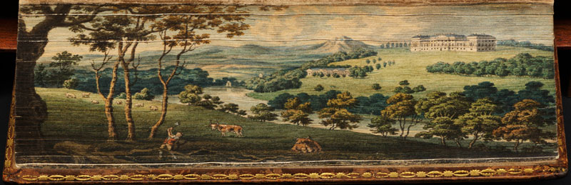 harewood house fore edge book painting 40 Hidden Artworks Painted on the Edges of Books