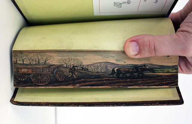 hidden artworks on edges of books