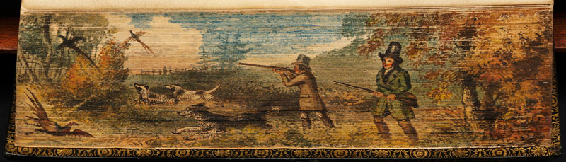 hunting-fore-edge-book-painting