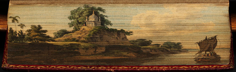 indian river scene fore edge book painting 40 Hidden Artworks Painted on the Edges of Books