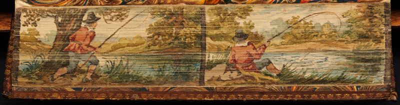 man fishing fore edge book painting 40 Hidden Artworks Painted on the Edges of Books