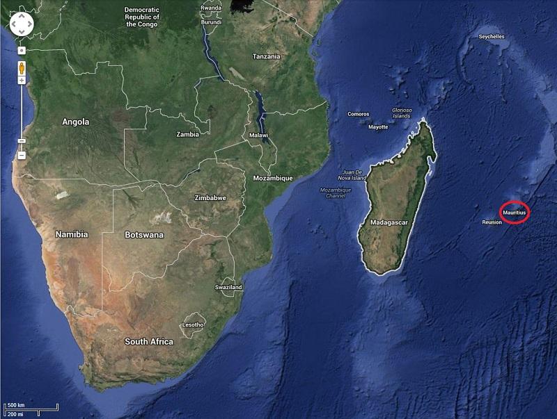 mauritius map location