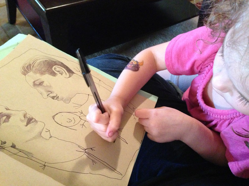 mica angela hendricks teams up with daughter on drawings (4)