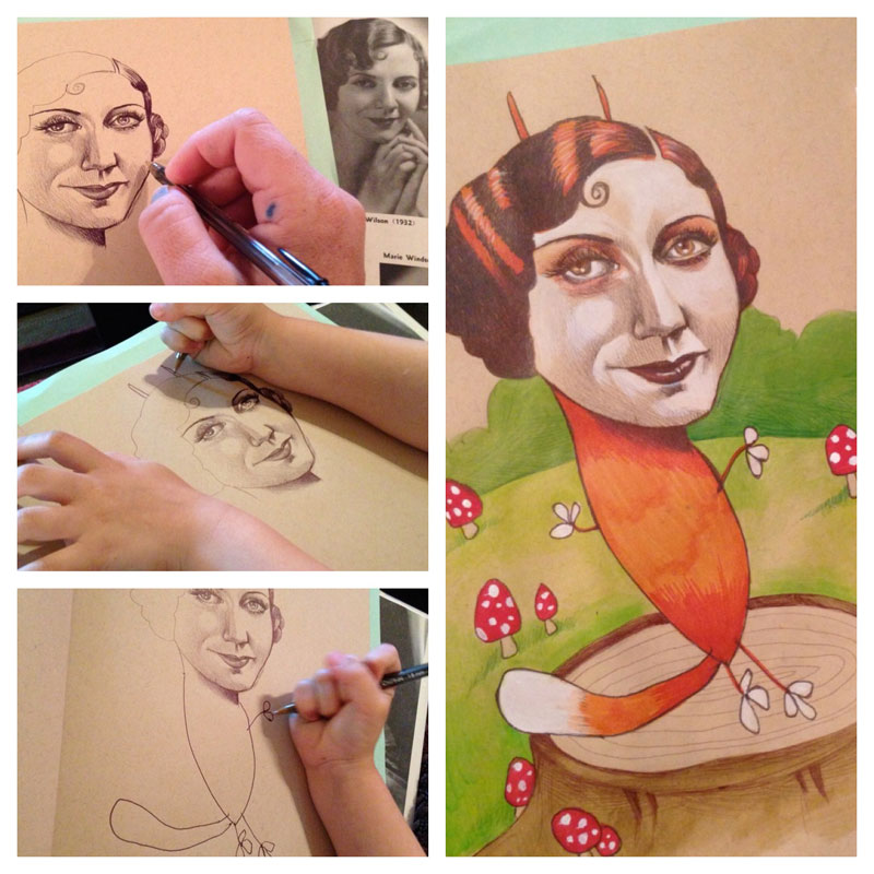 Artist Teams Up with 4-year-old Daughter and Draws SomethingAmazing
