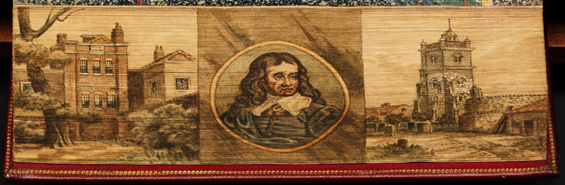 milton triptych fore edge book painting 40 Hidden Artworks Painted on the Edges of Books