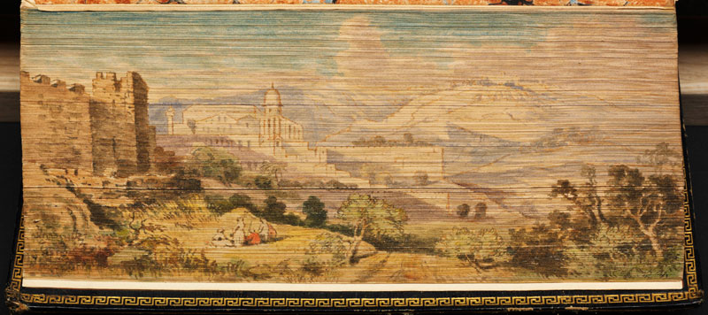 mount of olives mt zion fore edge book painting 40 Hidden Artworks Painted on the Edges of Books