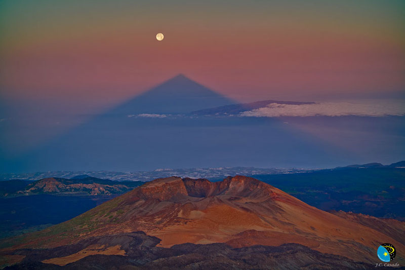 Picture of the Day: A Triangular Volcano Shadow
