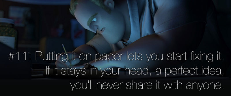 Pixar's 22 Golden Rules of Storytelling