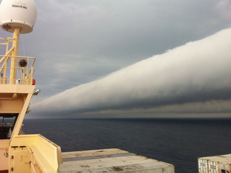 roll cloud off coast of brazil The Top 75 Pictures of the Day for 2013