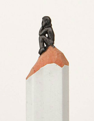 sculptures carved on the tip of a pencil diem chau 7 Chloe Giordano Embroiders the Tiniest Animals