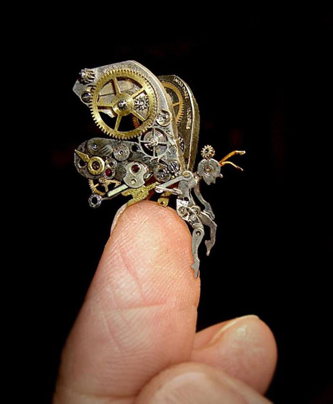 15 Sculptures Made from Old WatchParts