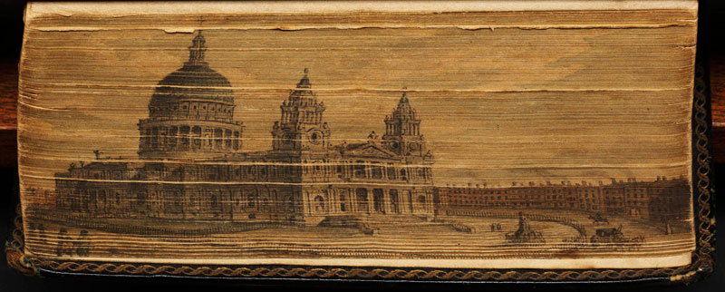 st pauls cathedral fore edge book painting 40 Hidden Artworks Painted on the Edges of Books