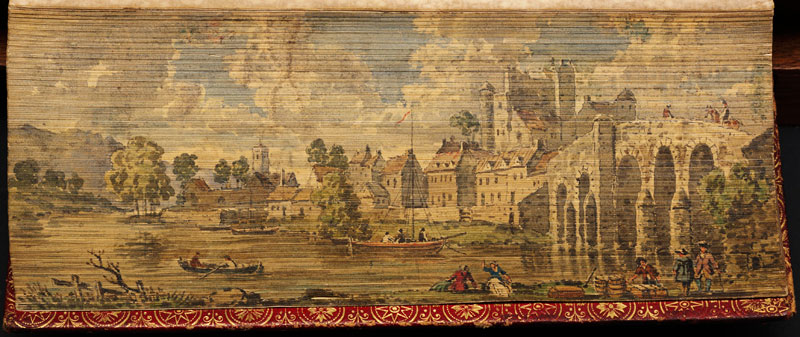 view of enniscorthy fore edge book painting 40 Hidden Artworks Painted on the Edges of Books