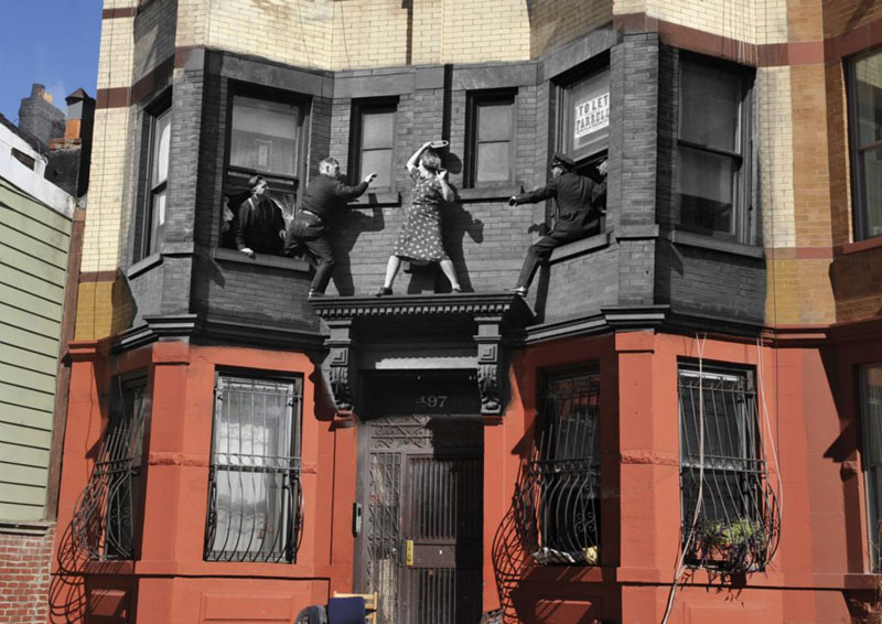 vintage photos of new york superimposed onto present day pics marc hermann 4 Surreal Self Portraits Blended Into Landscape Photos