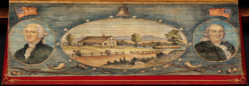washington franklin fore edge book painting 40 Hidden Artworks Painted on the Edges of Books