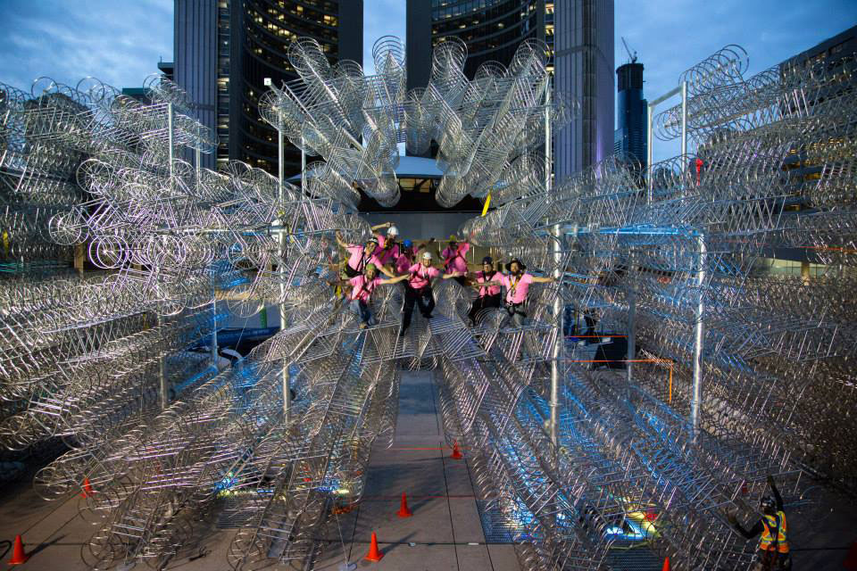 ai wei wei forever bicycles nuit blanche toronto 2013 (4)