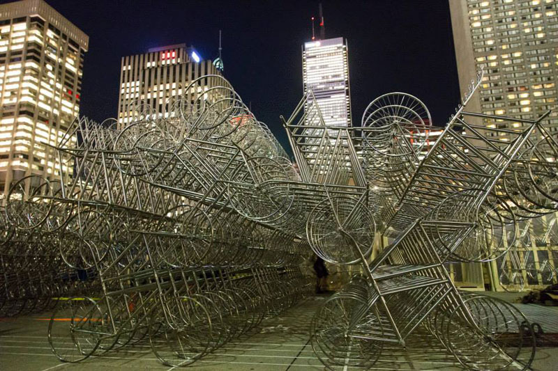 ai wei wei forever bicycles nuit blanche toronto 2013 (5)