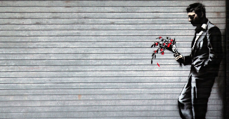 Picture of the Day: Banksy Looks for Love in Hell'sKitchen
