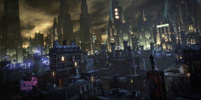 batman arkham city onahottinroof 40 Cinematic Landscape Stills from Video Games