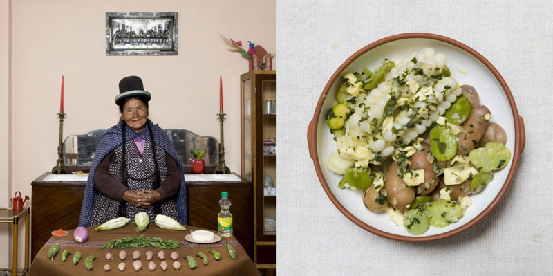 bolivia grandmothers cook signature dish portraits gabriele galimberti Grandmothers Posing with their Signature Dish