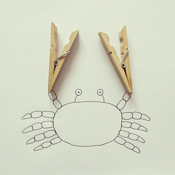 doodles com objetos do cotidiano Javier Pérez (12),en