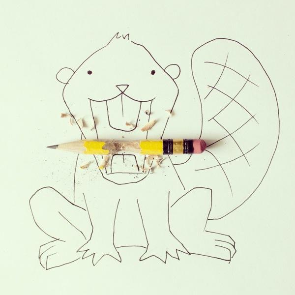 doodles com objetos do cotidiano Javier Pérez (13),en
