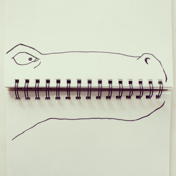 doodles with everyday objects javier perez 14 This Guy Gives People Cartoon Faces on His Train Ride to Work