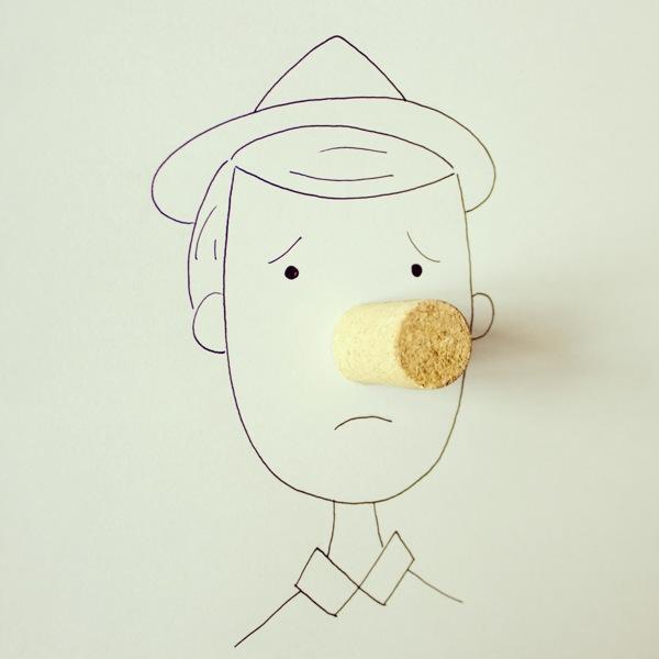 doodles com objetos do cotidiano Javier Pérez (8),en