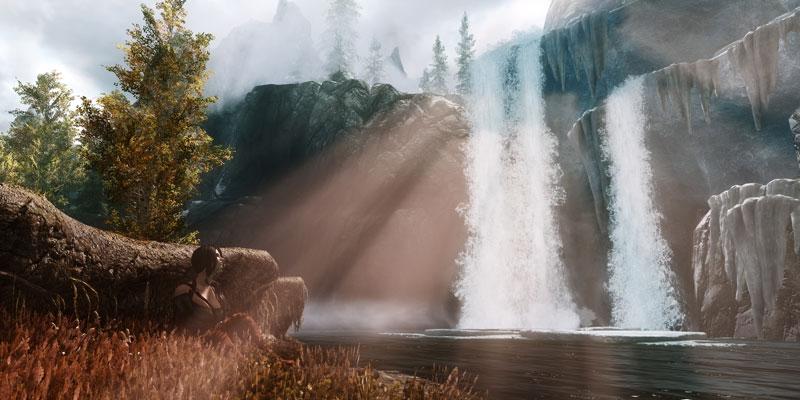elder scrolls v skyrim asmallmeasureofpeace 40 Cinematic Landscape Stills from Video Games