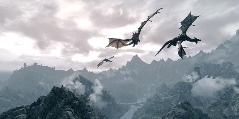 elder scrolls v skyrim herebedragons 40 Cinematic Landscape Stills from Video Games