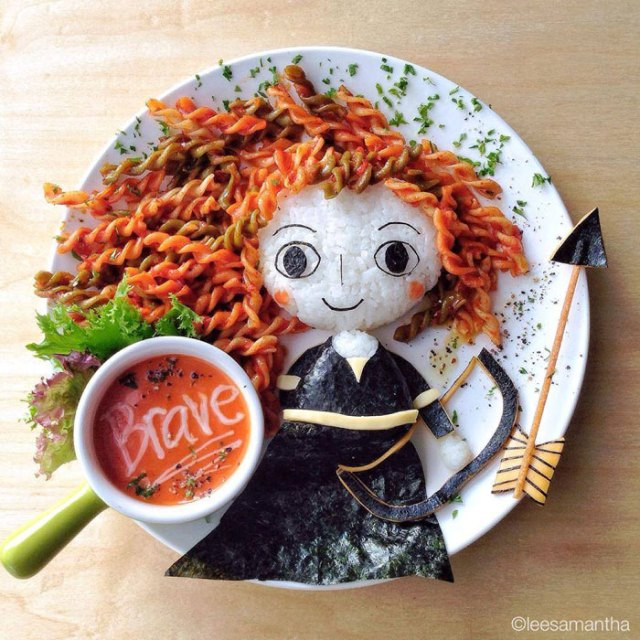 food art by lee samantha 10 Creative Dad Illustrates All of the Funny Things His Daughter Says