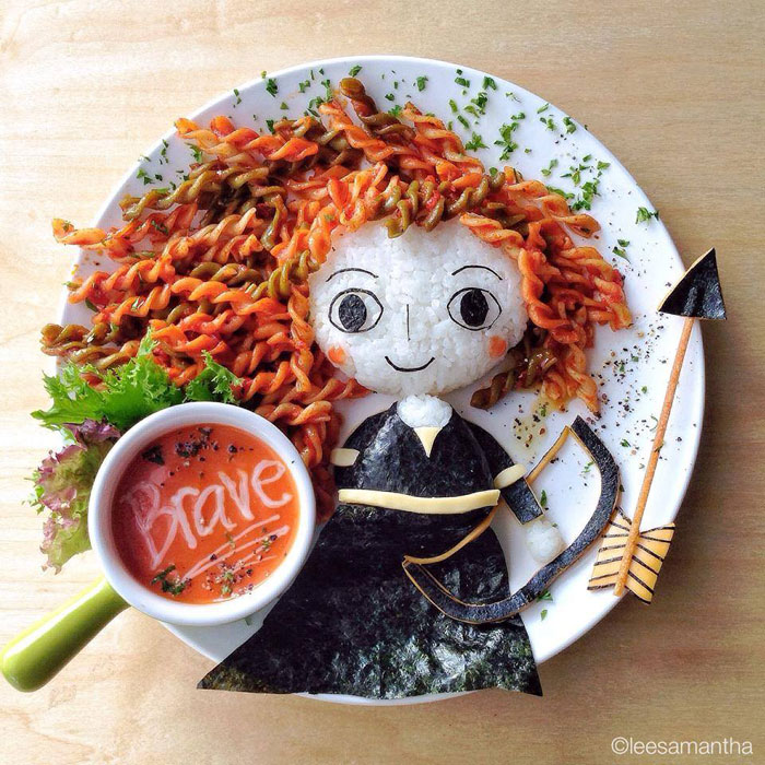 food art by lee samantha 10 Artistic Mom Makes Amazing Mosaic with 10,000 Dots of Play Doh