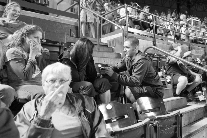 guy proposes at baseball game woman gives camera the finger The Shirk Report   Volume 234