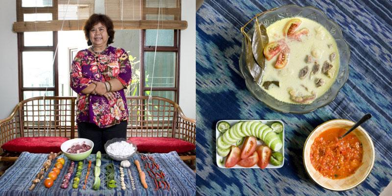 indonesia grandmothers cook signature dish portraits gabriele galimberti Grandmothers Posing with their Signature Dish