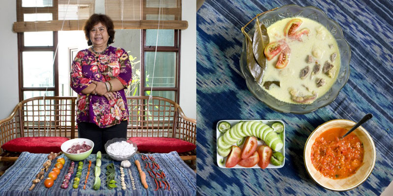 indonesia grandmothers cook signature dish portraits gabriele galimberti Grandmothers Posing with their Signature Dish