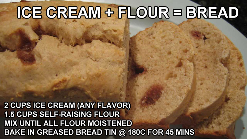 MAKE-BREAD-WITH-ICE-CREAM-LIFE-HACK