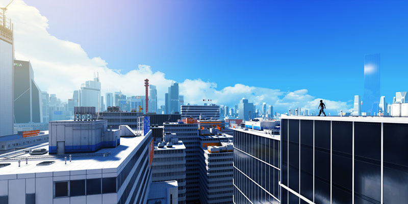 mirrors edge ledger 40 Cinematic Landscape Stills from Video Games