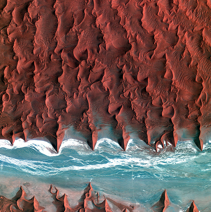 namib desert 21 Satellite Photos of Earth that Will Give you a Fresh Perspective