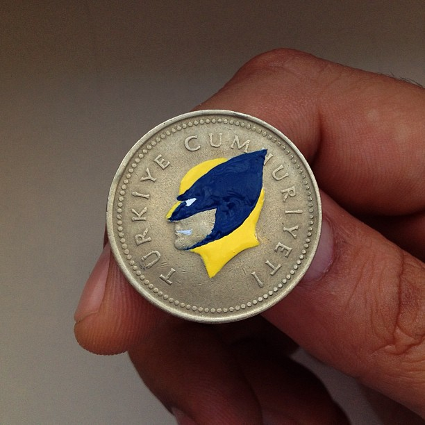 Pop Culture Portraits Painted onto Coins