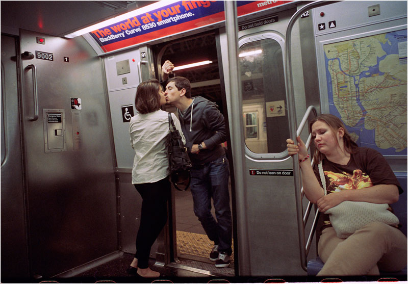 romantic moments on new york subway street photography by matt weber 6 Life in the Tube: 40 Years of London Underground Photography