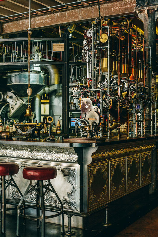 steampunk coffee house in cape town south africa truth 5 Old Sea Mines Repurposed Into Furniture